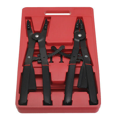 16'' Large Circlip Snap Ring Pliers Retaining Tool Set Replacement Tips Case NSW
