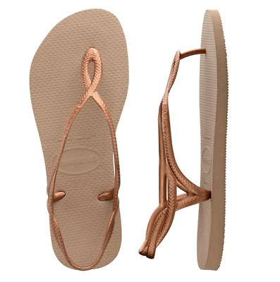 Havaianas Slim Luna Thongs - Rose Gold - Size 35/36