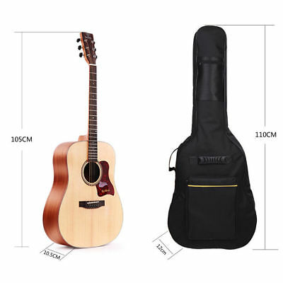 41 Black Padded Full Size Acoustic Classical Guitar Bag Case Cover High Quality