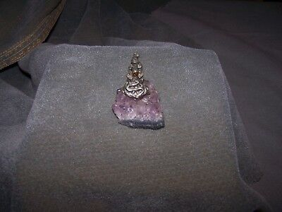 Pewter Fantasy Castle on Amethyst