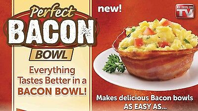 Brand New Lot of 2 Perfect Bacon Bowls 2-Pack Genuine As Seen On TV