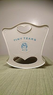 """Vintage 1950's American Character Tiny Tears 19"""" Cradle Crib &  13"""" Doll"""