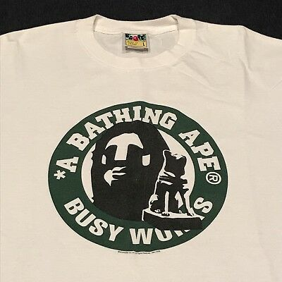 b5974b23 Pre-owned Bape A Bathing Ape Shibuya Limited Circle Logo T Shirt White Large