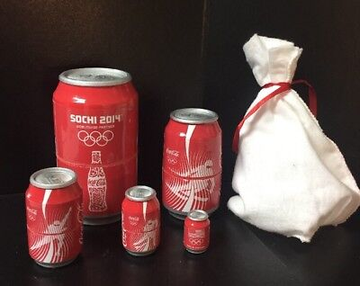 Sochi 2014 Nesting Coca-Cola Cans ~ Made in Russia~Limited Edition