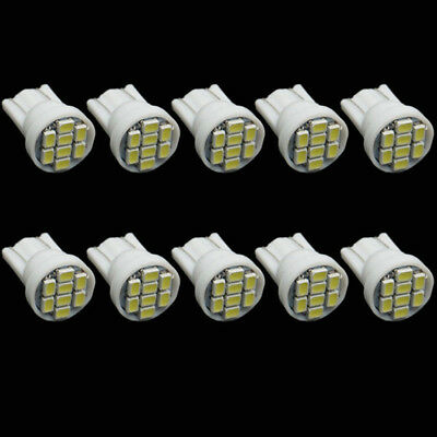 4pcs 12Light T10 8 SMD 194 168 W5W 2825 LED 5050 White Car Lamp Bulb Lights