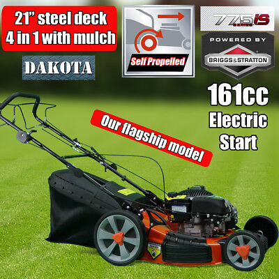 "NEW DAKOTA 21"" Lawn Mower Briggs & Stratton 775iS Self Propelled Electric Start"
