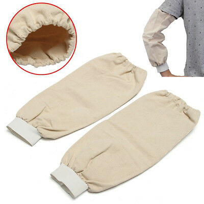 40cm Welding Arm Sleeves Heat Protection Cut Resistant Welding Protection Beige
