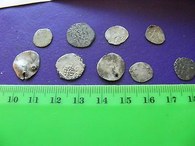 Lot of 9 Ottoman Silver Coins,Fourree coins,mixed condition used.