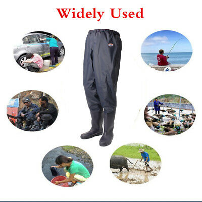 Thicken Waist Wading Pants Overalls Waders Waterproof Fishing Hunting Catch Fish