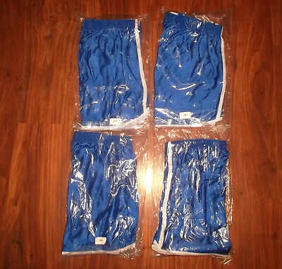 4x vintage france Nylon Shorts oldschool Sport gym 90`s glanz shiny pants M/L