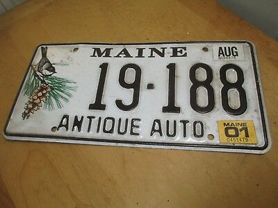 Maine License Plate - Antique Auto - Last used 2001
