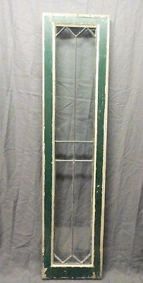 Antique 12 Lite Leaded Transom Window Sash Cabinet Door Vtg 50x12 4-18P