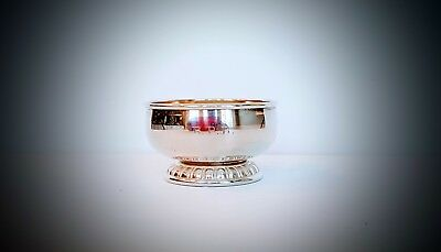 Antique Rogers Lunt Bowlen Sterling Silver Footed Master Salt Cellar 1901-1935