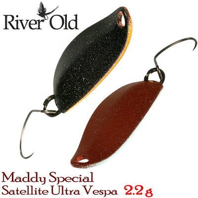 River Old Satellite Ultra Vespa MaddySpecial 2.2 g Trout Spoon Assorted colors