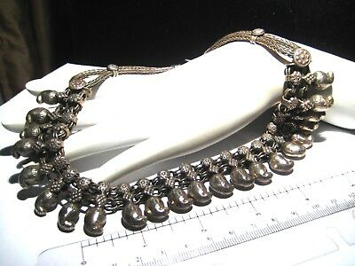 Vintage Sterling Silver Choker Chili Pepper Charms OVER 100 grams!