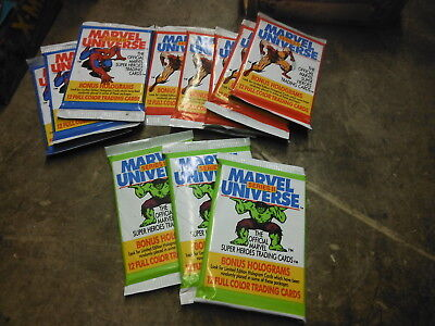 (11) Sealed Packs - Marvel Universe Series II trading packs ~ New