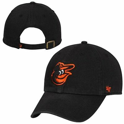 2d38dba2e20 BALTIMORE ORIOLES 47 Brand Clean Up Adjustable Field Classic Black ...