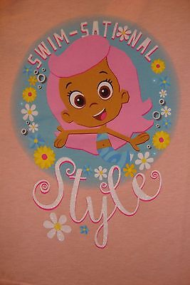 """Bubble Guppies  Molly  Graphic Girls Tee Shirt Nwt """"swim-Sational Style """""""