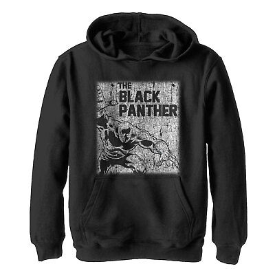 Marvel Black Panther Chalk Print Boys Graphic Lightweight Hoodie