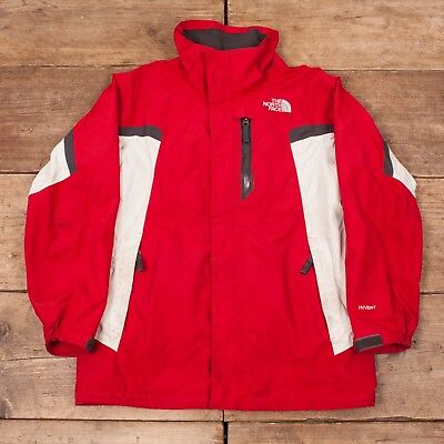 Boys Vintage North Face Hyvent Red Waterproof Jacket Large R7122