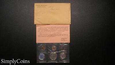 1962 Proof Set ~ Original Envelope With COA ~ US Mint Silver Coin Lot SKU-862