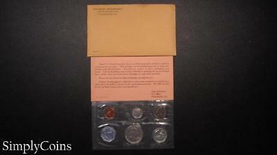 1963 Proof Set ~ Original Envelope With COA ~ US Mint Silver Coin Lot SKU-867