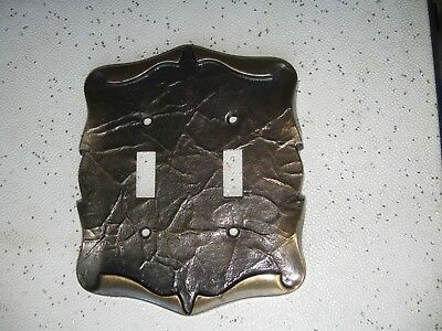 Vintage Amerock Carriage House Double Switch Plate