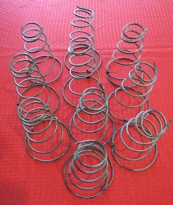 "Lot of 10 Vintage Black Fat Tornado Bed Springs~5 1/2"" Tall~ Arts Crafts Shabby"