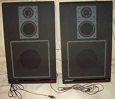 CHICAGO IL Local Pick Up _ 1980s vtg pair Sharp stereo speakers Model CP 45