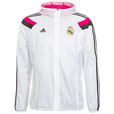 77a43c440 ADIDAS REAL MADRID ANTHEM WOVEN JACKET White/Pink. - $110.00 | PicClick
