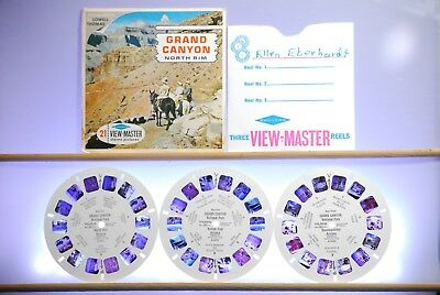 Grand Canyon North Rim 3-reel set A362 - Sawyers S6b View-Master