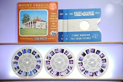 Mount Vernon 3-reel Set 76-ABC - Sawyers S3/S4 A812 View-Master Packet