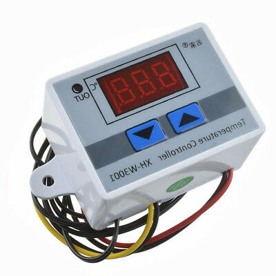 220V Digital LED Temperature Controller Thermostat Control Switch 10K Probe ATF