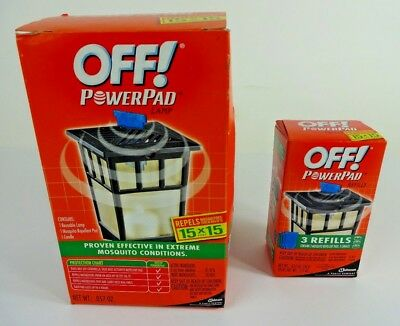 OFF! POWERPAD LAMP Mosquito Repellent PATIO+DECK LANTERN + 3 PACK REFILL
