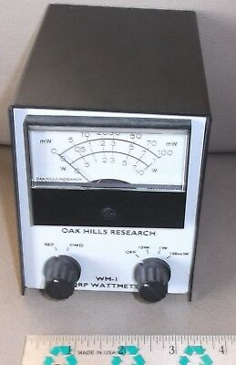 OAK HILLS RESEARCH WM-1 QRP WATTMETER used ships free