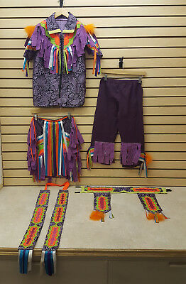 Nice 6 Piece Home Made Kids Fat Fringe Native American Grass Dance Set