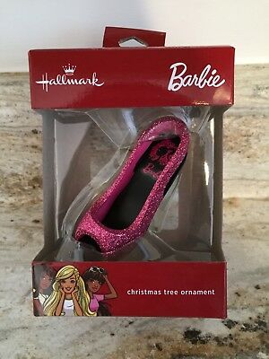 2017 Hallmark Barbie Hot Pink Glitter Shoe christmas tree ornament
