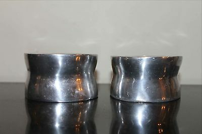 Pair of Mid Century Cast Aluminum Candle Holders, For Two Sizes of Candles
