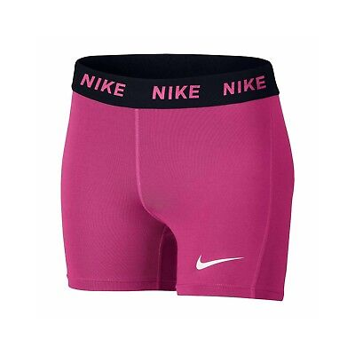 NEW Girls Pink Nike Dri-FIT Victory Base Layer Boy Shorts M 10-12 L 14 SHIP FAST