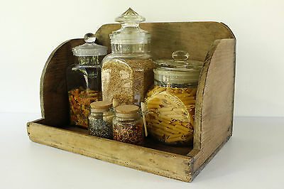 Very Rare Antique Vintage French Primitive Wooden Washing Box Crate