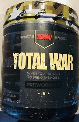ONE REDCON1 Total War 435g Pre Workout Pre Trainer ORIGINAL VERS STRAWBERRY KIWI
