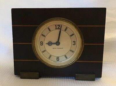 Antique early 1900's Seth Thomas Art Deco 8 Day Wind-Up Mantel Shelf Clock