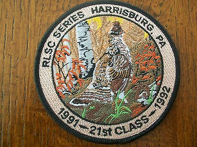 """Pa Pennsylvania Game Fish  Commission  Patch  4""""  1991-1992  21St  Class   Rlsc"""