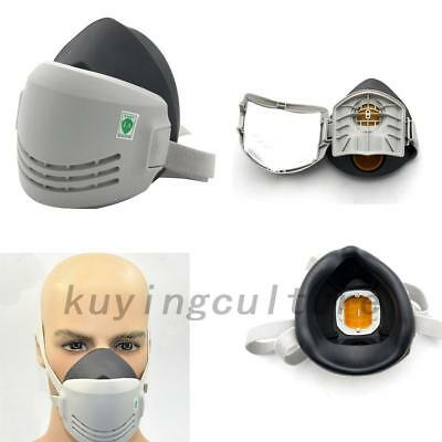 Top Rubber Chemical Reusable Paint Respirator Safety Industrial Mask Filters UK