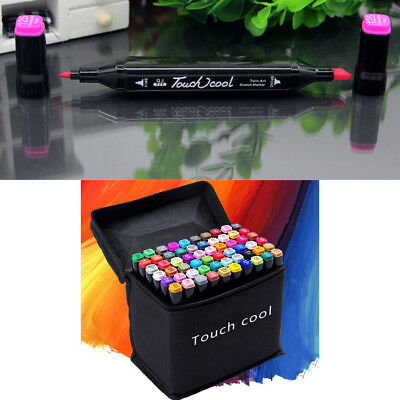 24-80 Color Markers Pen Touch Five Graphic Art Sketch Twin Tip For Student Kids
