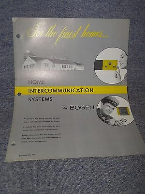 Vintage Bogen Home Intercom System Ad Advertisement Info Brochure