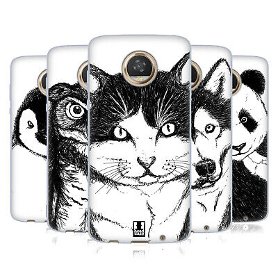 Head Case Designs Hand Drawn Animals Soft Gel Case For Motorola Phones