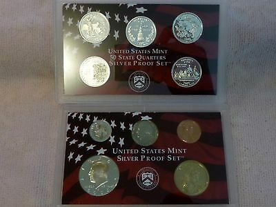 ~> 2000 United States Mint Silver Proof 10 Coin Set ~ no Box or COA