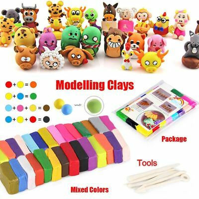 Mixed Color Oven Bake Polymer Clay Modelling Moulding Sculpey Fimo Block DIY Toy