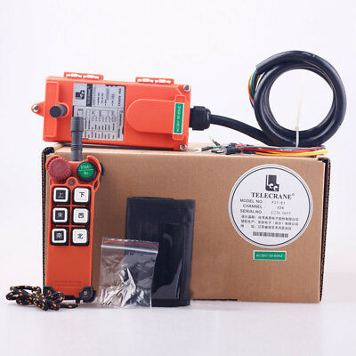 F21-E1 Single Emitter Hoist Crane Radio Wireless Remote Control DC12V